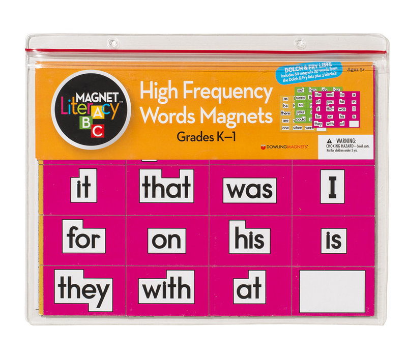 High-Frequency Words Magnets (Grades K-1), Set of 60