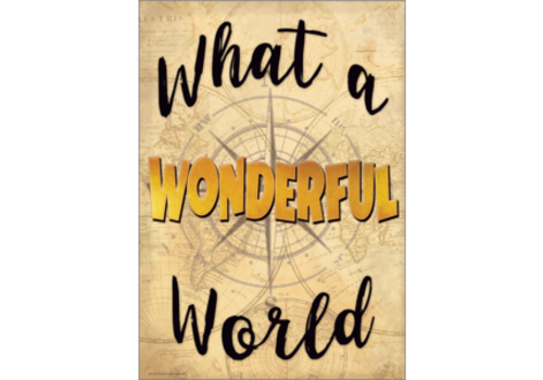Teacher Created Resources What a Wonderful World Positive Poster