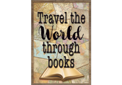 Teacher Created Resources Travel the World Through Books Positive Poster*