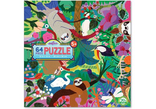 Eeboo Sloths at Play 64 Piece Puzzle E