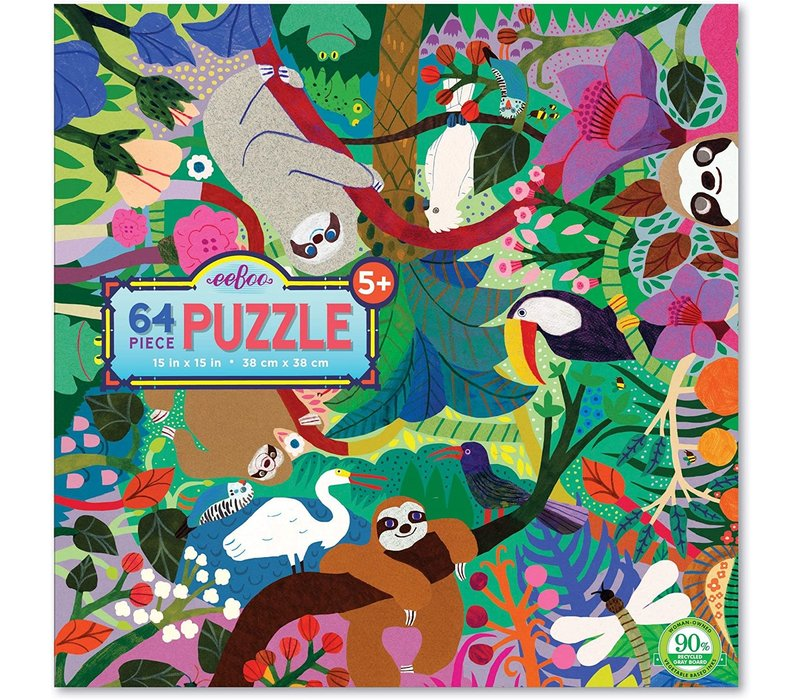 Sloths at Play 64 Piece Puzzle E *