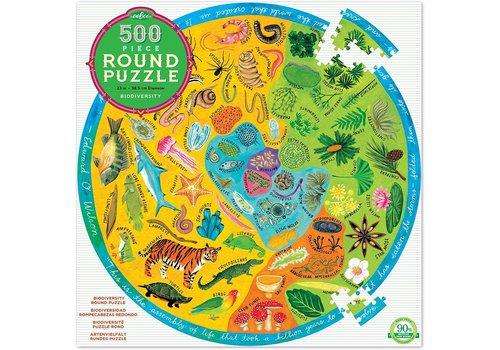 Eeboo Biodiversity 500 Piece Round Puzzle *