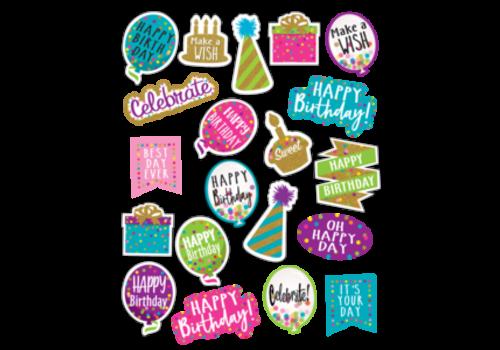 Teacher Created Resources Confetti Happy Birthday Stickers *