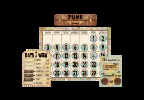 Teacher Created Resources Travel the Map Calendar Set