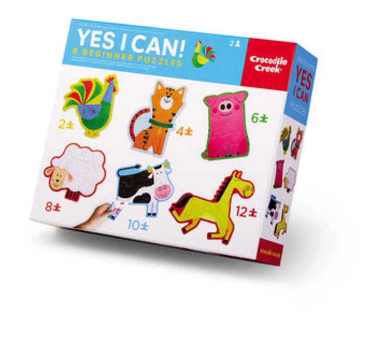 Yes! I Can! Puzzles - Barnyard 2-12 Pieces