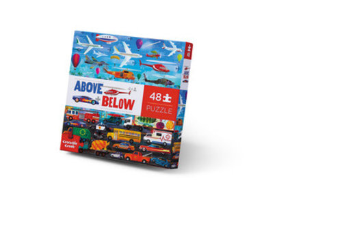 Crocodile Creek Above + Below 48 Piece Puzzle - Things That Go *