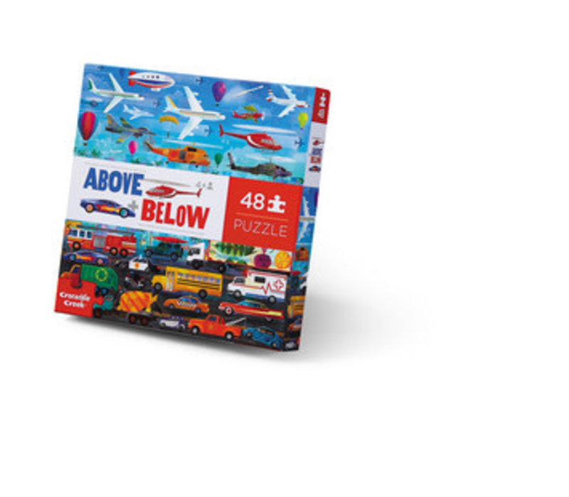 Above + Below 48 Piece Puzzle - Things That Go *