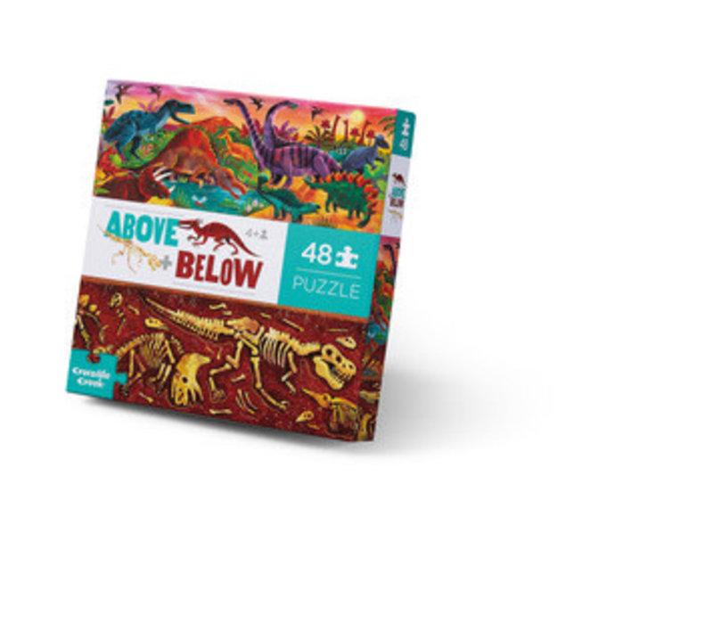 Above + Below 48 Piece Puzzle - Dinosaur World
