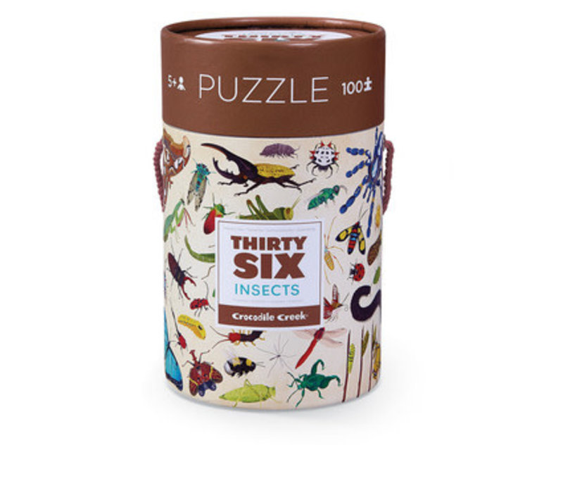 Thirty-Six Animals Puzzle - Insects 100 piece