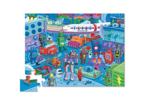 Crocodile Creek 36 pc Shaped Puzzle/Robot City *