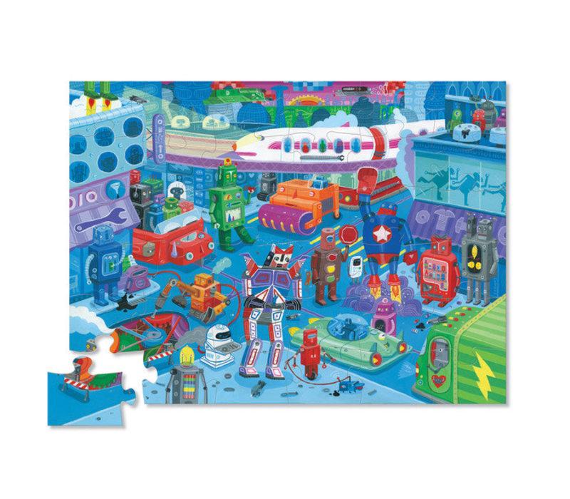 36 pc Shaped Puzzle/Robot City *