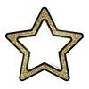 """Carson Dellosa Gold Glitter Stars Cut-Outs, 6"""""""