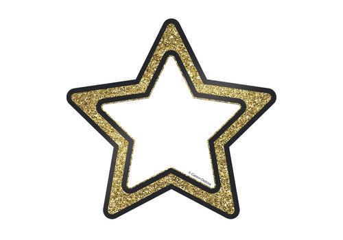 """Carson Dellosa Gold Glitter Stars Cut-Outs, 6"""" *"""