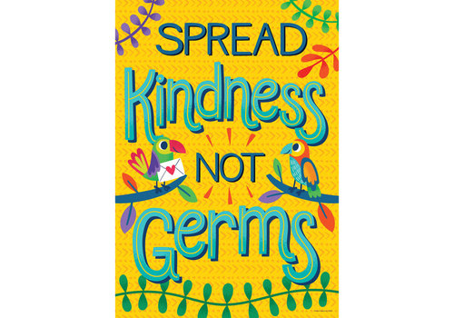 Carson Dellosa One World - Spread Kindness Not Germs poster*