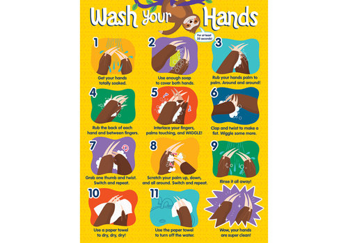 Carson Dellosa One World - Handwashing  poster