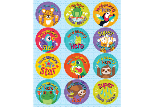 Carson Dellosa One World -Hooray for Handwashing Stickers
