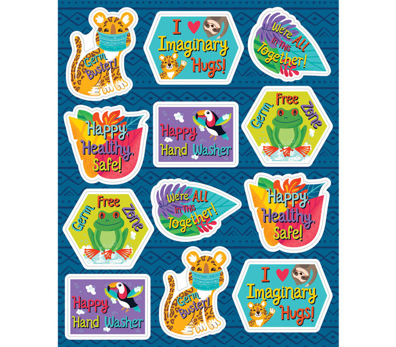 Copy of One World -Hooray for Handwashing Stickers
