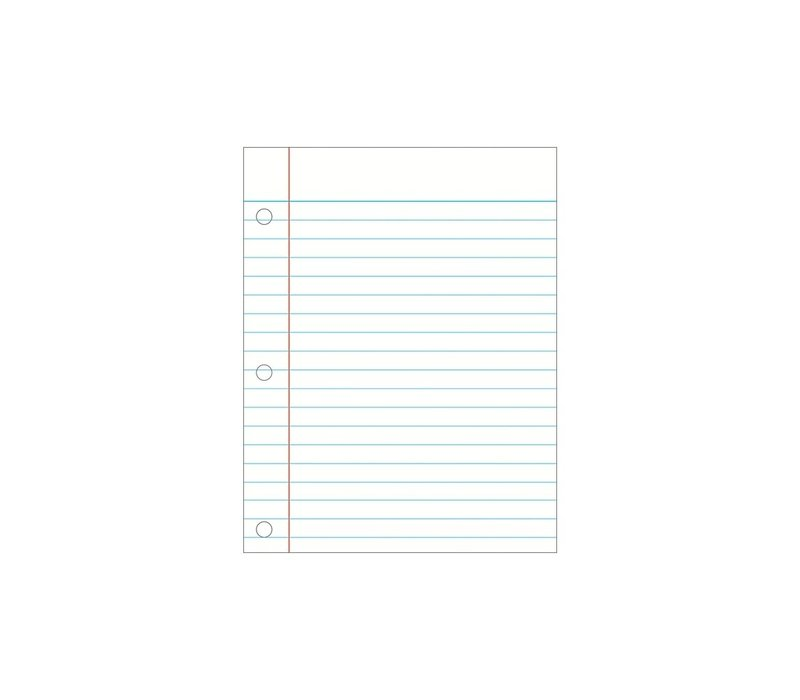 Wipe Off Writing Notebook Paper Chart