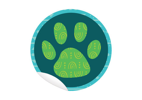 Carson Dellosa One World Floor Decals - Paw Print *