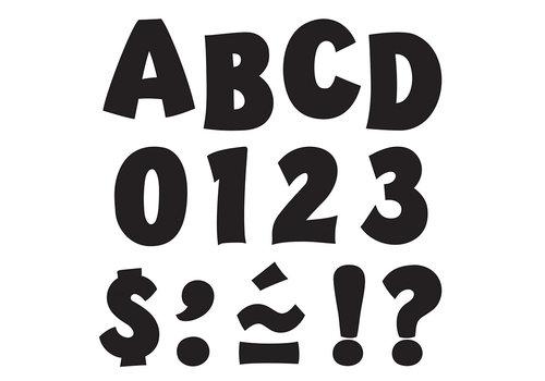 Trend Enterprises Black Letters - Playful 2 inch