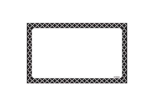 Trend Enterprises Moroccan Black Index Cards - Blank