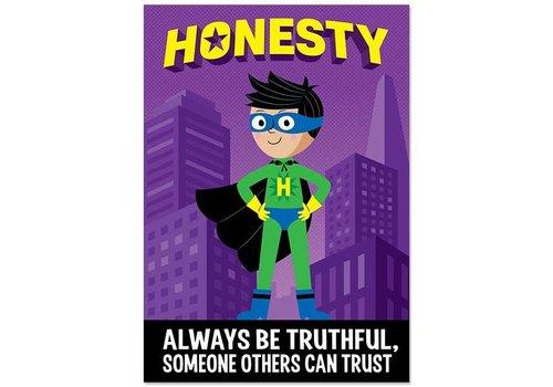 Creative Teaching Press Honesty Superhero Inspire U Poster
