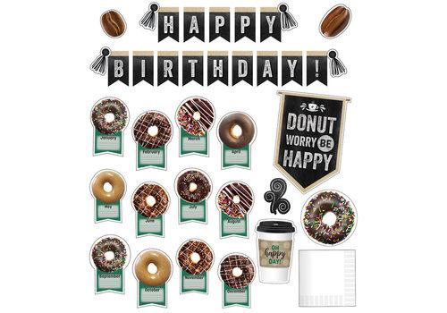Carson Dellosa Industrial Cafe Happy Birthday Bulletin  Board Set