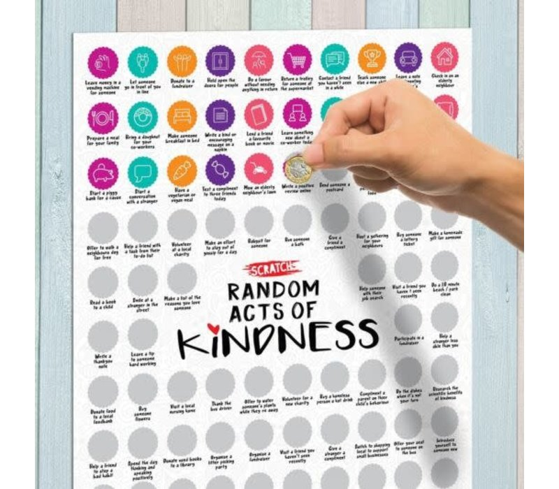 100 Acts of Random Kindness Scratch Poster *