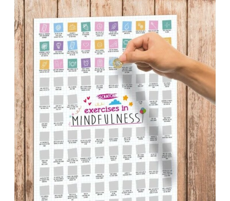 100 MIndfullness Activities  Scratch Poster