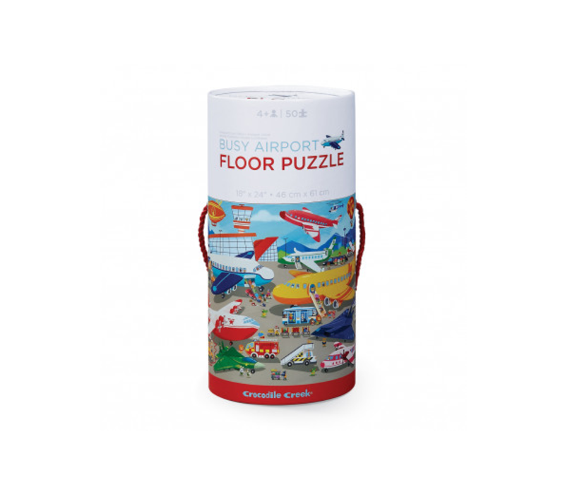 Busy Airport 50 pc Floor Puzzle