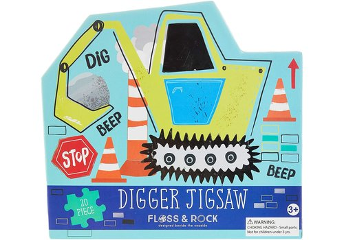 Floss & Rock Construction Puzzle - 20 piece (Floss & Rock) *