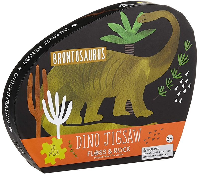 Dinosaur Puzzle 20 pc (Floss & Rock) *
