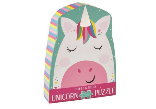 Floss & Rock Rainbow Unicorn 12 piece puzzle  (Floss & Rock) *