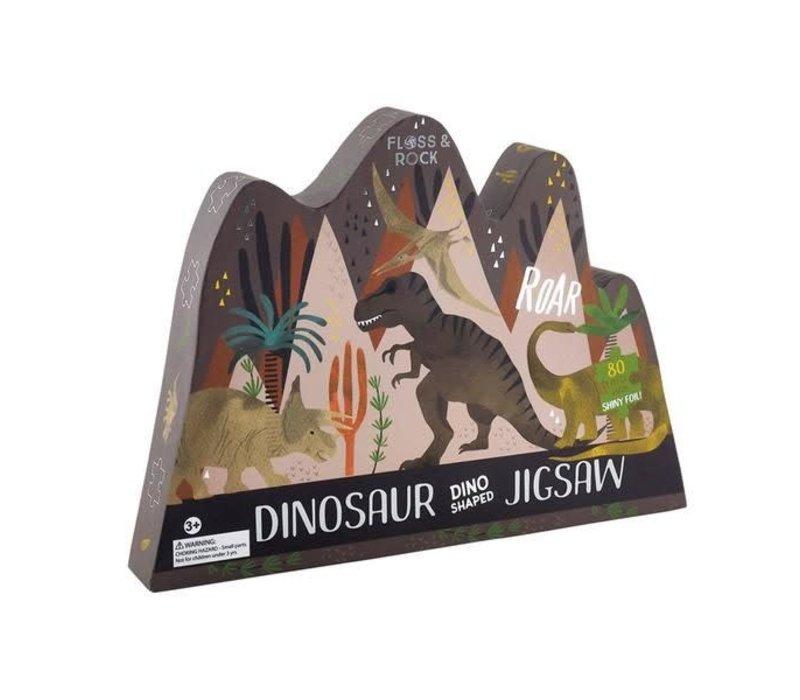 Dinosaur Dino Shaped 80 Piece Puzzle *