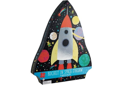 Floss & Rock Rocket In Space 40 piece  Puzzle (Floss & Rock)