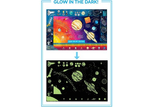Eeboo Glow In The Dark Solar System Poster *