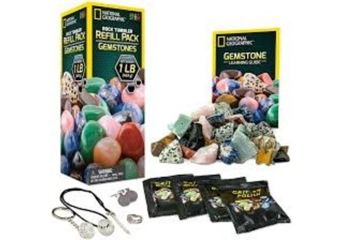 Incredible Novelties National Geographic Rock Tumbler Refill Pack - Gemstone *
