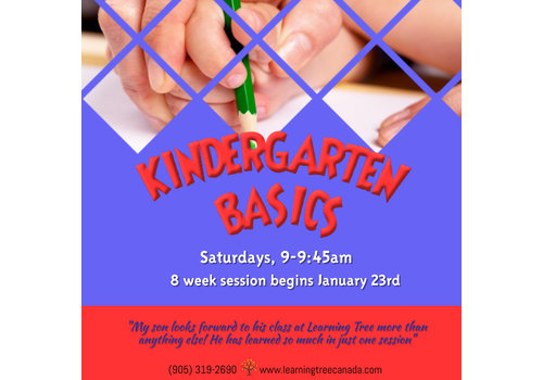 Kindergarten Basics Course:   Saturdays, 9-9:45am WINTER 2021