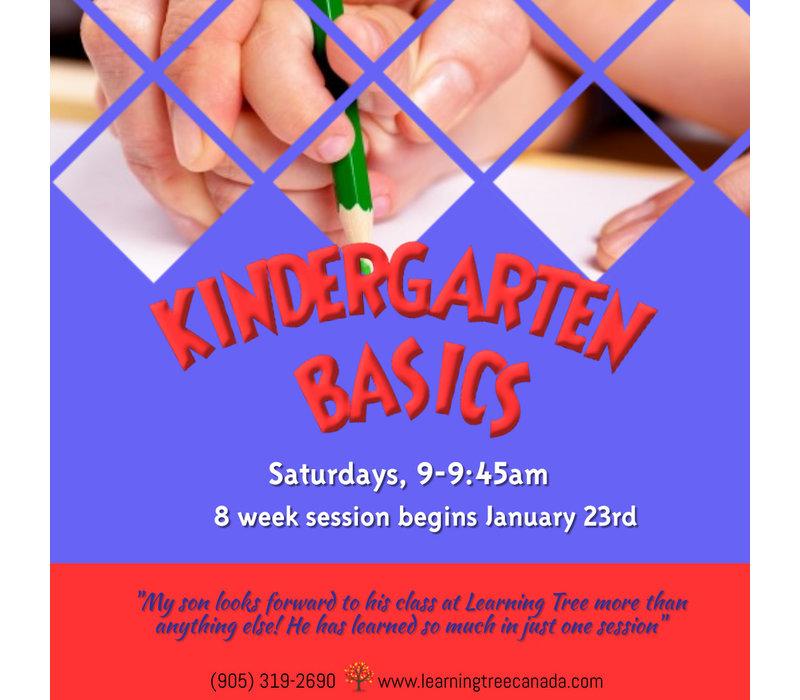 Kindergarten Basics Course:   Saturdays, 9-9:45am WINTER 2021