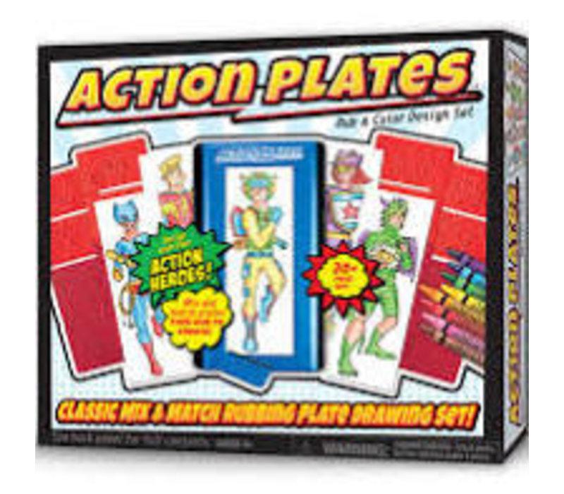 Action Plates Rub & Color Design Set *