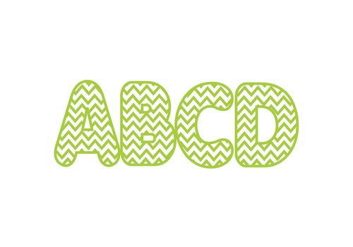 ASHLEY PRODUCTIONS Lime Chevron Magnetic Letters (D) *