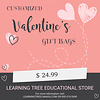 Customizable Valentine Gift Bag $24.99 *