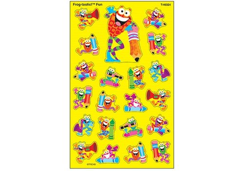 Trend Enterprises Frog-tastic! Fun Super Shape Stickers *