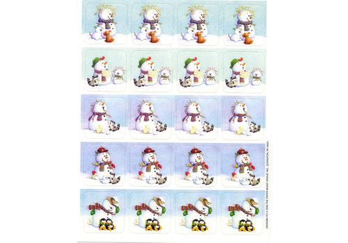 EUREKA Snowman Stickers *