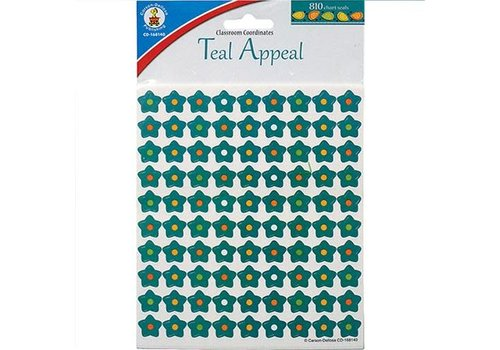 Carson Dellosa Teal Appeal Stars Mini Stickers *
