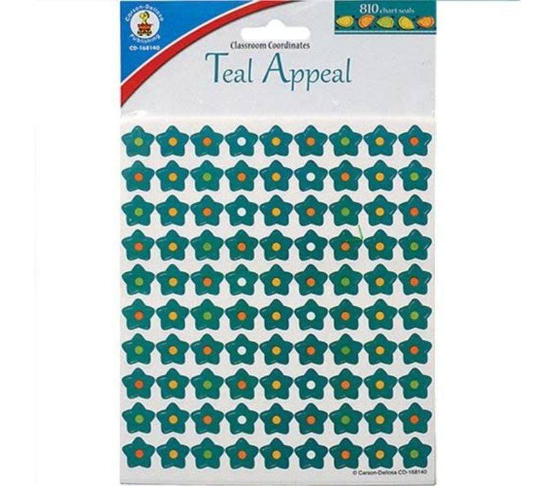 Teal Appeal Stars Mini Stickers *