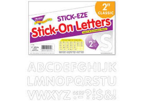 Trend Enterprises Stick-eze Stick on Letters White 2 inch *