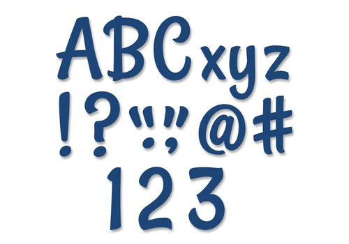 Creative Teaching Press Stylish Navy Punch-Out Designer Letters *