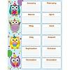 Carson Dellosa Colorful Owls Birthday Chart *