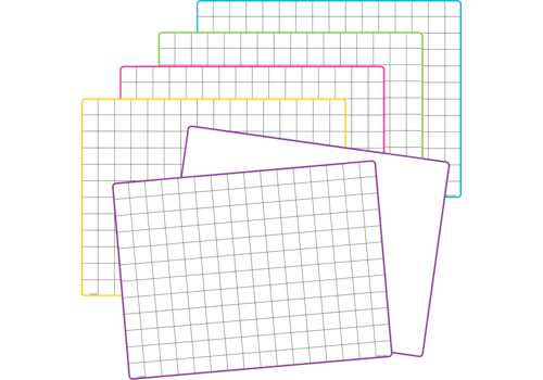 Teacher Created Resources Math Grid Dry Erase Boards *